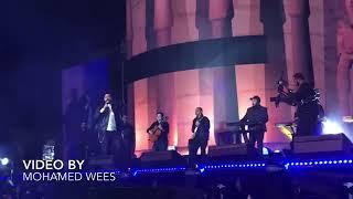 اجمل لايف تامر حسني اغنيه حلو المكان حفله المناره ٢٠١٩
