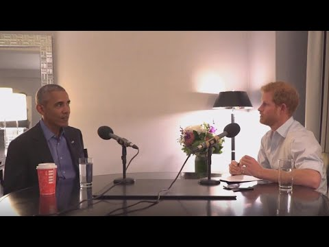 Obama jokes with Prince Harry before BBC interview