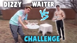 DIZZY WAITER CHALLENGE! *REAL GLASS*