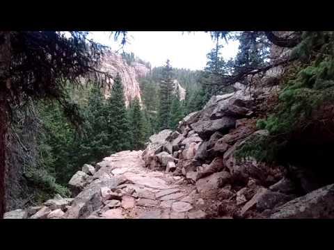 Chimney Rock trail in Staunton state park