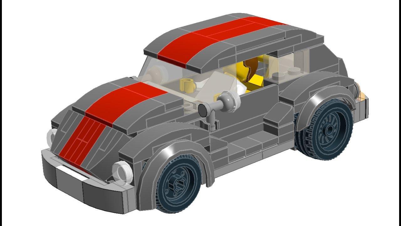 Lego City Vw Beetle Volksrod Building Tutorial Youtube