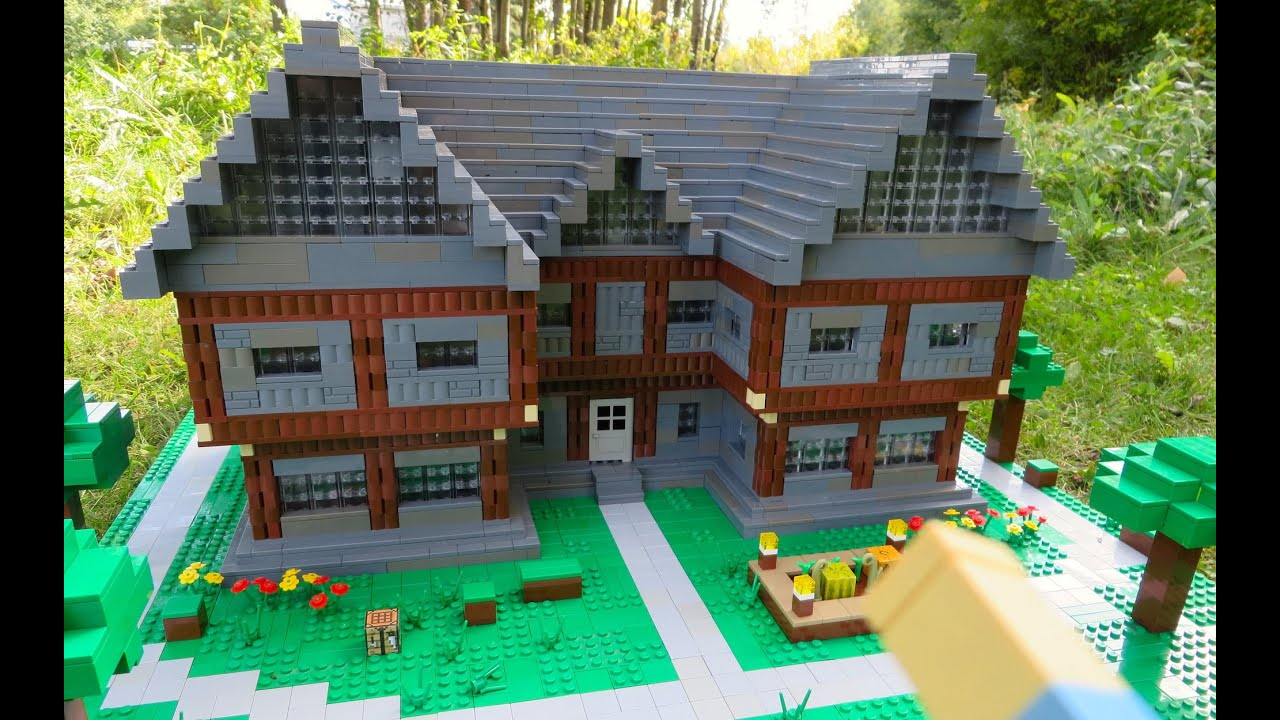 Real Life Lego House Lego Minecraft Steves House Youtube
