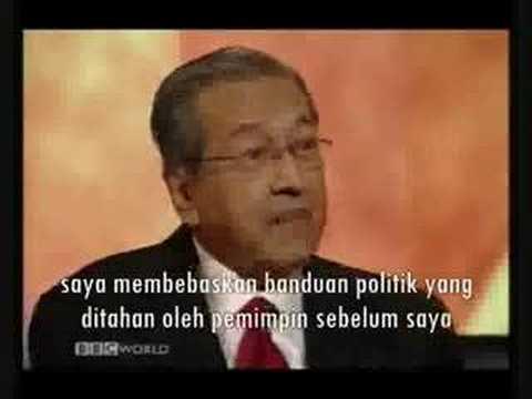 BBC HARDTalk - Dr. Mahathir 3/3
