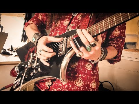 SLIDE GUITAR SOLO - LIVE ON AIR | 6-String Cadillac Tail-Fin Guitar