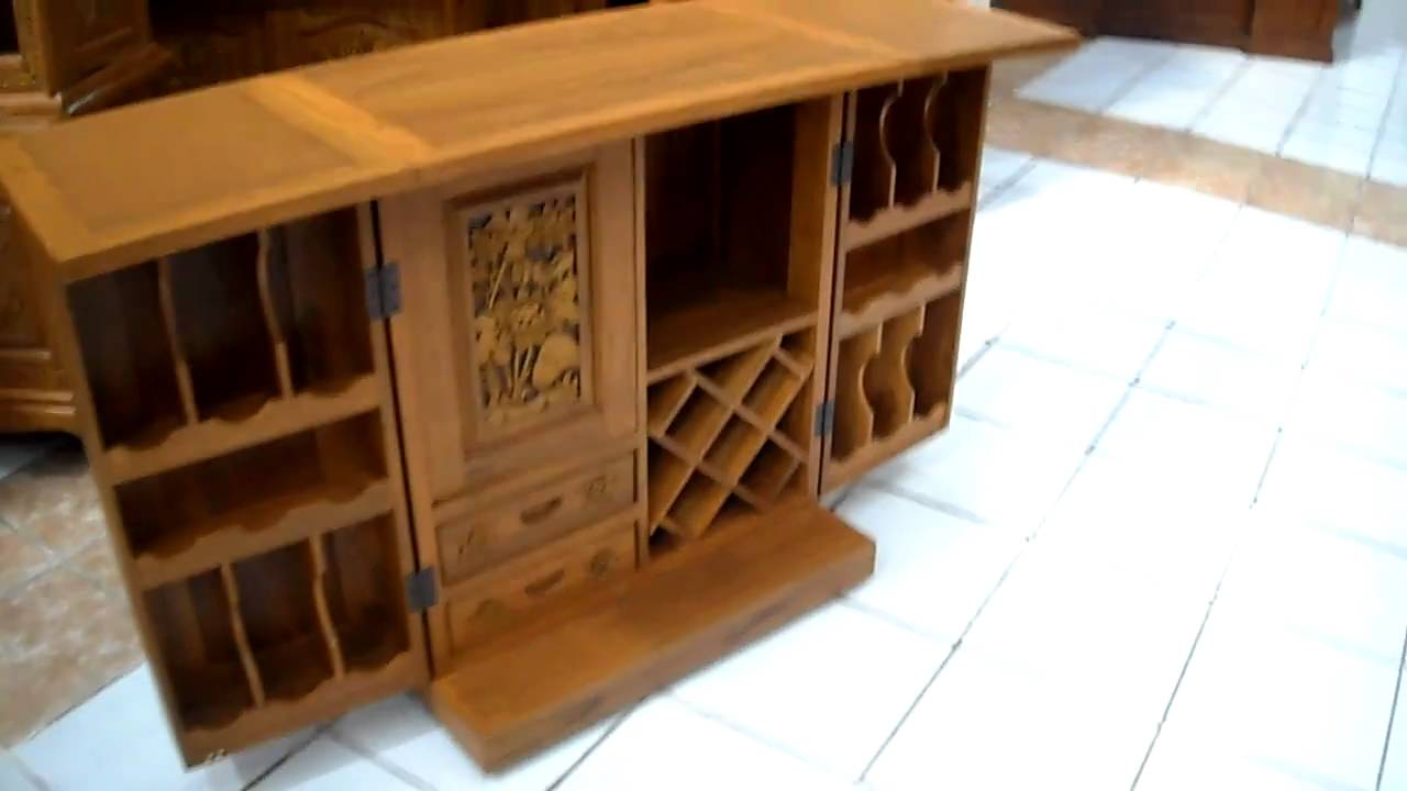 Teak Carving Furniture Transformer Bar Youtube