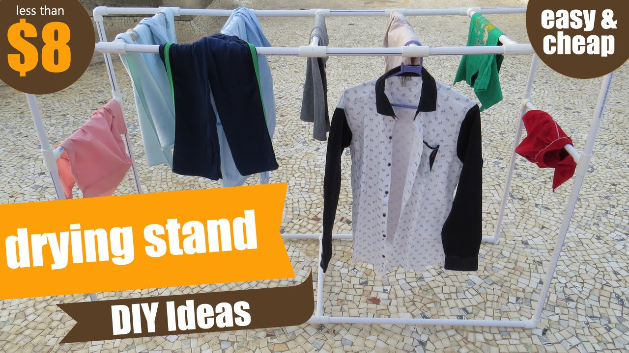 Pvc clothes drying rack or stand pvc pipe project pvc pipes diy ideas how to make drying rack youtube