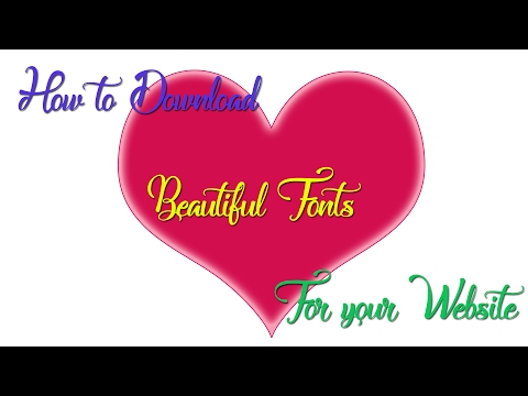 How-to|Download|best&beautiful-cool-fonts|for|Your Website(font-style)