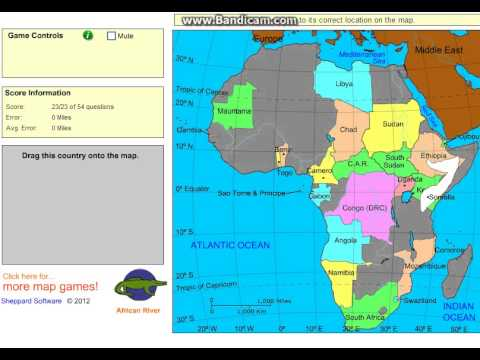 SheppardSoftware Africa Level Map Puzzle Accuracy YouTube - Sheppard software us map