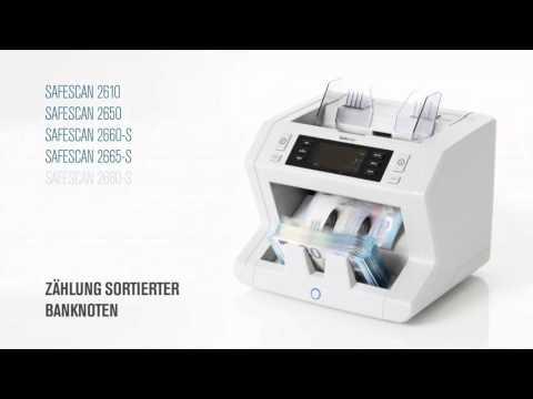 Safescan 2665 S Geldscheinzähler mit Prüfung MT MG