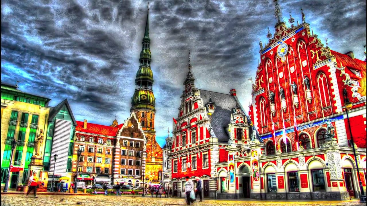 Riga oldtown hdr timelapse 1 youtube for Wallpaper places near me