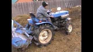 Міні трактор iseki 1500, оранка 27.04.2014 р.