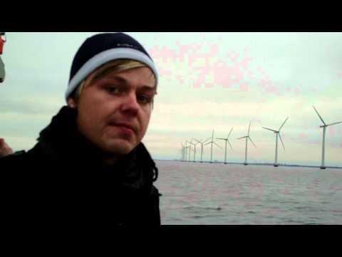 Ryan Sullivan Touring an Offshore Wind Farm near Copenhagen Denmark