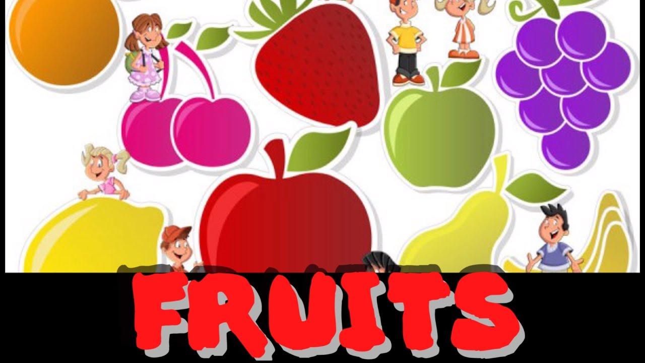 Learn fruits for children 18 Fruits letters for children s