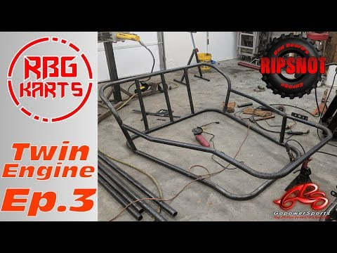 Twin 18hp Engine Buggy Build Ep. 3 ~ Custom Frame Build