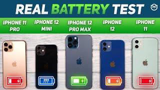 iPhone 12 Mini vs 12, 12 Pro Max, 11 Pro Battery Drain Test | Gaming Test | Heating Test [Hindi]