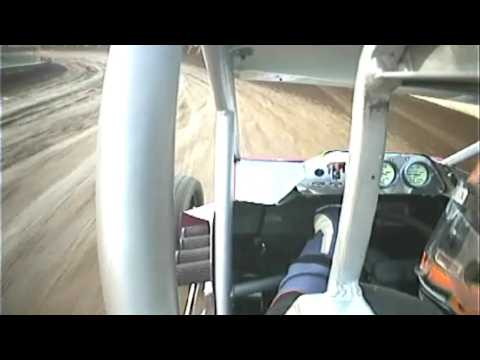 Nick Hoffman East Lincoln Speedway Sprint Car Win In Car Cam 6/13/09