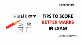 How to score better marks in exams ?