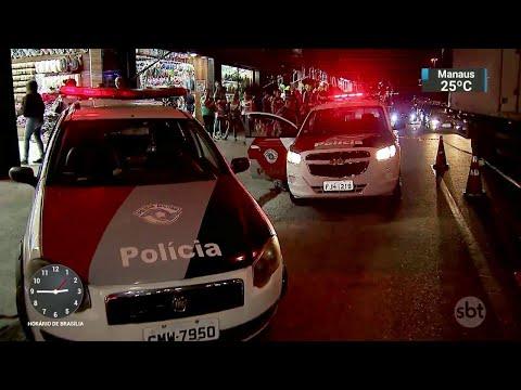 Assaltante é baleada e morta durante troca de tiros com a polícia em SP | SBT Notícias (13/06/18)