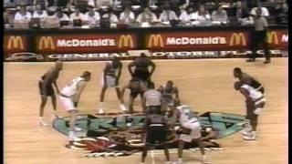 MICHAEL JORDAN: 29 pts (19 pts in last 6 minutes) vs Vancouver Grizzlies (1995.11.30) HD