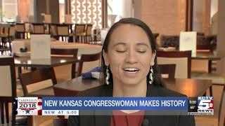 Kansas' Sharice Davids is the first gay Native American woman elected to Congress