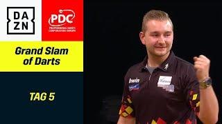 Dimitri Van den Bergh wirft den 9-Darter | Grand Slam of Darts | Highlights DAZN