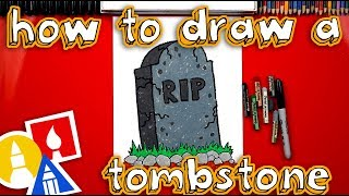 How To Draw A Spooky Tombstone For Halloween