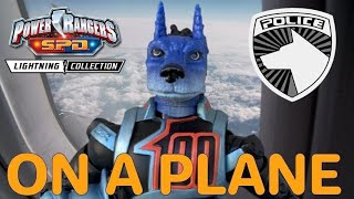 SPD Shadow Ranger Figure REVIEW! (ON A PLANE?!) - Power Rangers Lightning Collection