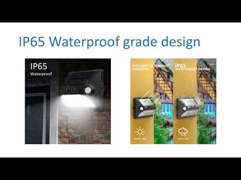 RGB Solar Sensor Outdoor Lights for Garden Patio Porch