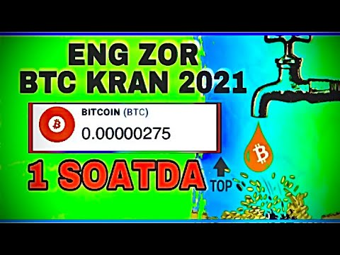ENG ZOR BITCOIN KRAN/INTERNETDA PUL ISHLASH/ KUNIGA 3$ DOLIR