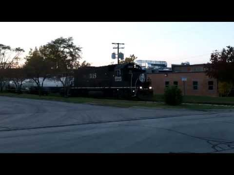 IC 3115 leads CN L-501 at Wheeling, IL