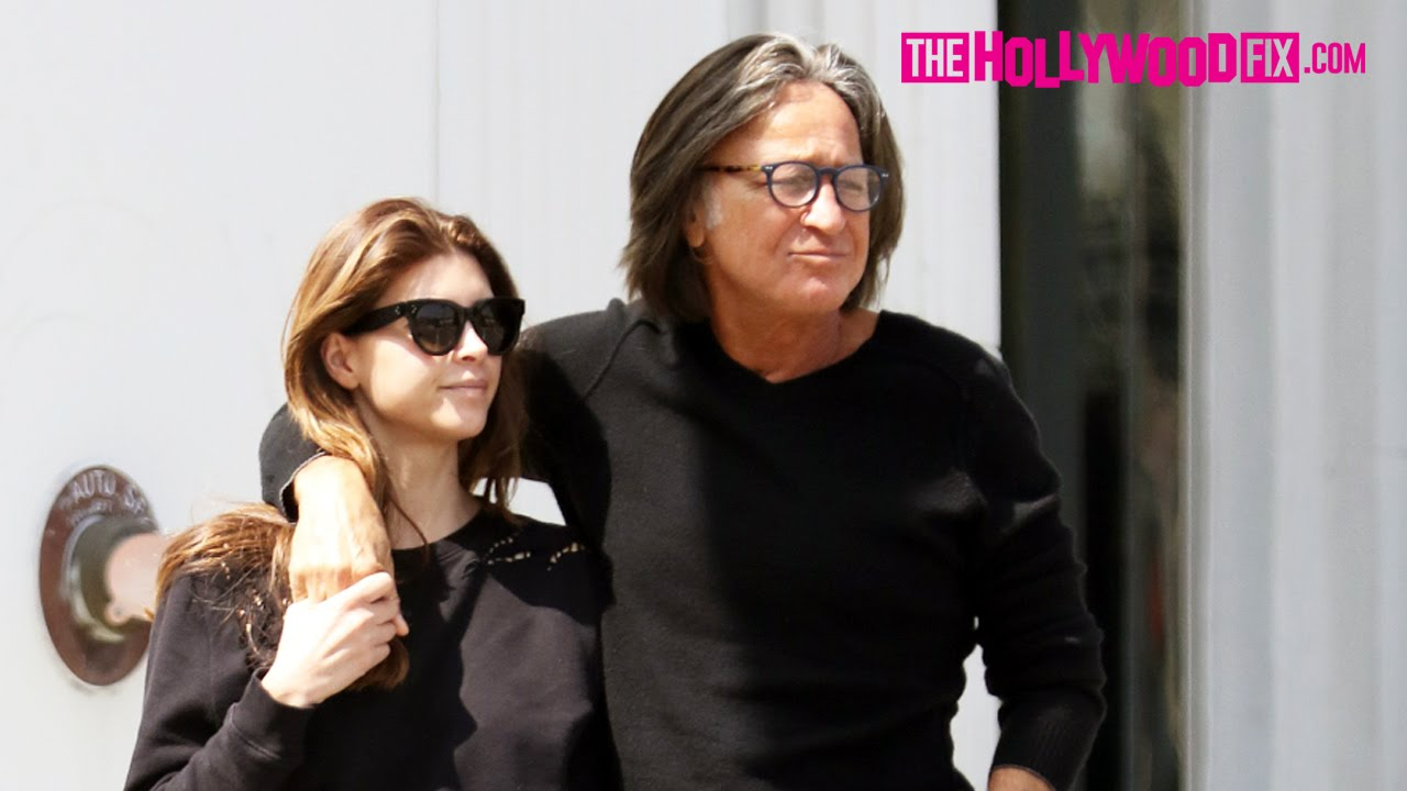 e8575533a90f7 Mohamed Hadid & Shiva Safai Are Happy And In Love Walking To Lunch Together  In Beverly Hills 3.20.16