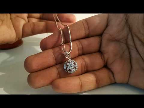 Light Weight Silver Chain |Silver Chain For Rs 560| Silver Pendant For Rs 340| Silver Pendant Design