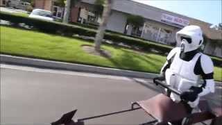 スピーダー・バイクの開発成功!?なりきって街中を走っちゃうもんね