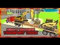 Heavy Machine Transport Truck