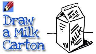 How to draw a milk carton real easy - for kids and beginners