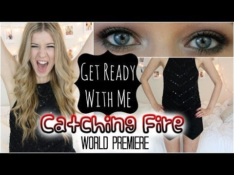 Get Ready With Me: Catching Fire Premiere (Makeup, Hair & Outfit)