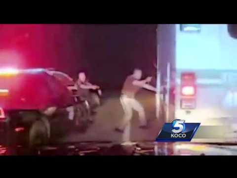 OHP dashcam footage shows pursuit with stolen ambulance