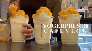 Eng) 5개월차? 카페 알바생 브이로그(cafe vl…