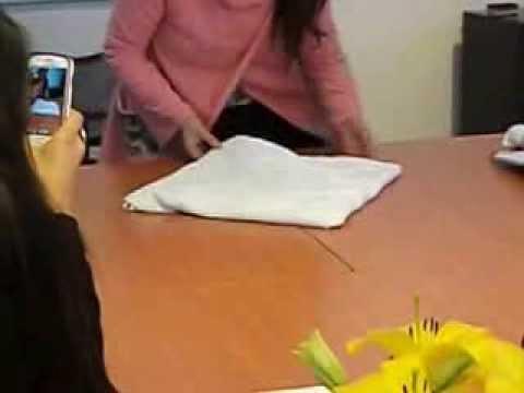 como hacer una flor con una toalla de bao