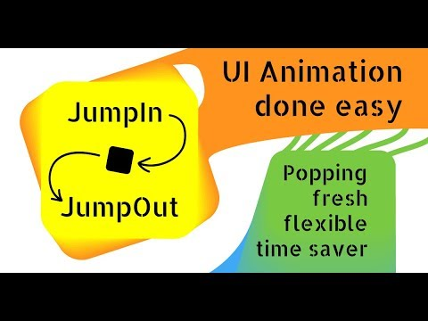 JumpIn JumpOut - Easy UI Animation - Unity Asset