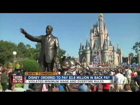 Disney ordered to pay Florida workers $3.8 million in back wages