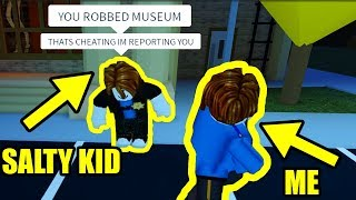 kid calls me EXPLOITER for doing this... | Roblox Jailbreak