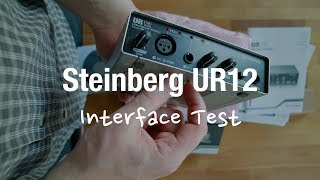 Steinberg UR12 USB Audio Interface (Review and Microphone Comparison)