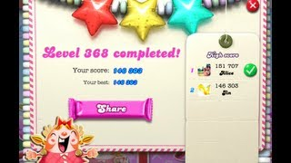 Candy Crush Saga Level 368  - NO BOOSTER