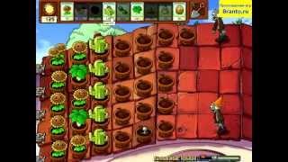 Растения против Зомби - Выживание: крыша