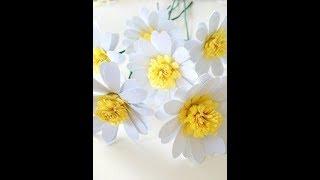 Прoстые ромашки из бумаги. Paper chamomile
