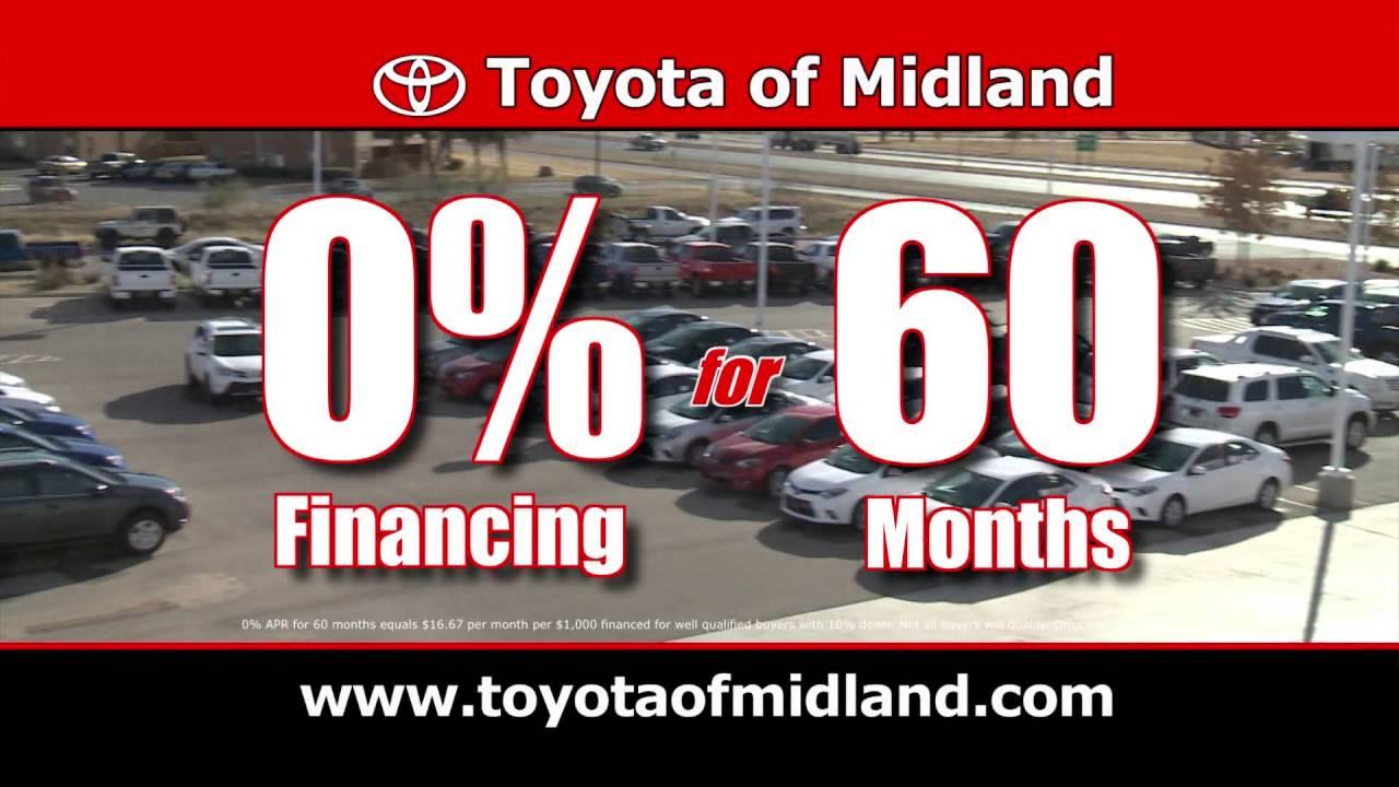 Toyota Of Midland   Zero Percent Financing