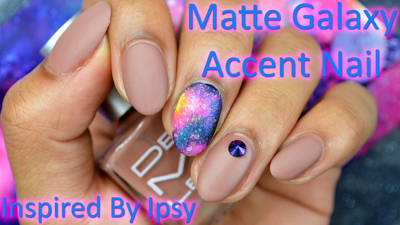 DIY: Matte Galaxy Accent Nail *Inspired By IPSY* - YouTube
