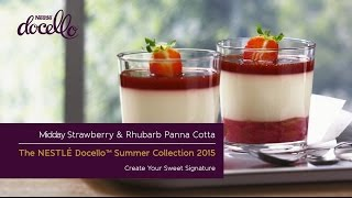 Midday Melody Strawberry & Rhubarb Panna Cotta