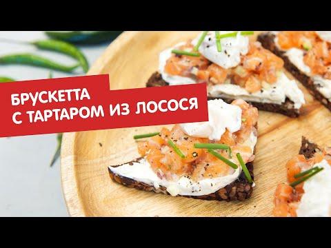 Брускетта с тартаром из лосося   Дежурный по кухне